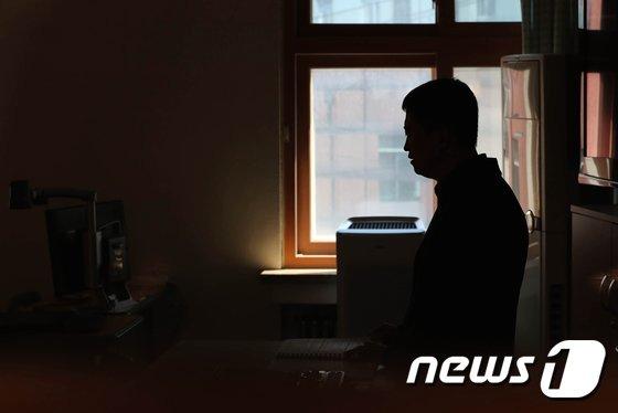 지난해 4월 서울 종로구 국립서울맹학교에서 한 시각장애인 교사가 수업을 진행하고 있다./뉴스1