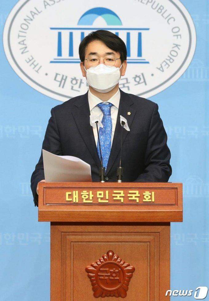(서울=뉴스1) 박세연 기자 = 박용진 더불어민주당 의원 2021.1.24/뉴스1