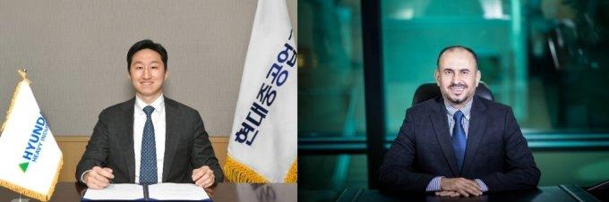 정기선 현대중공업그룹 부회장(왼쪽)이 사우디 아람코와 수소사업 협력 MOU를 주도했다./사진=현대중공업그룹