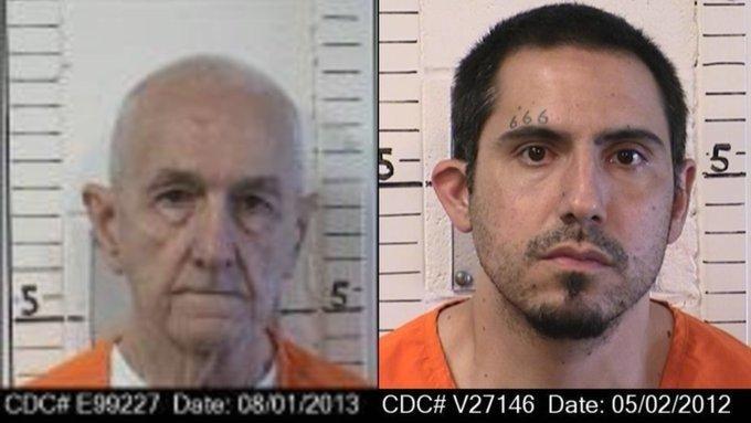 연쇄 살인범 로저 키베와 동료 수감자 제이슨 버드로우. 트위터 캡처.