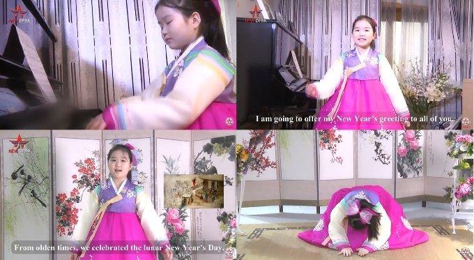 북한 선전 유튜브 채널에 등장하는 북한 어린이 리수진. (뉴DPRK 갈무리) © 뉴스1