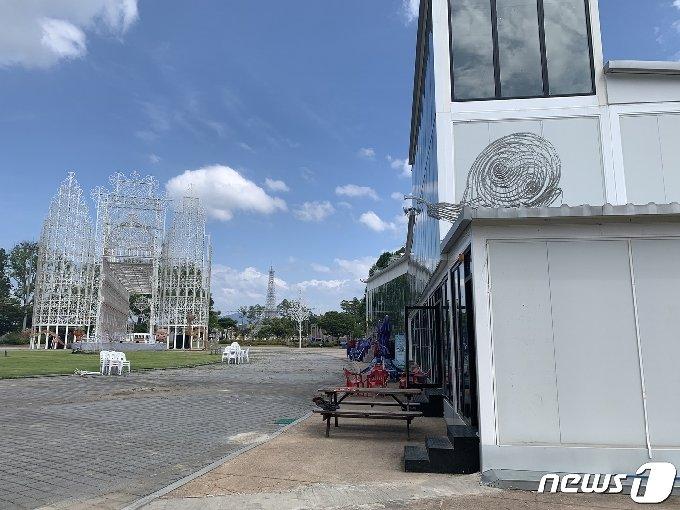 충주라이트월드 내 루미나리에와 시설물 모습.(뉴스1 DB)2021.3.6/© 뉴스1