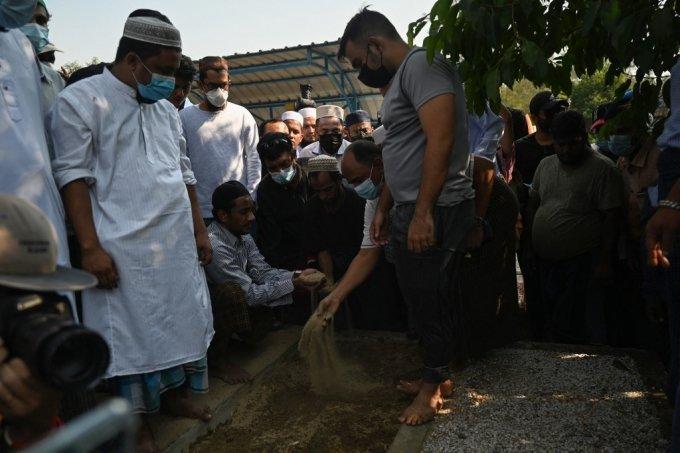 지난 7일 진행된 미얀마 양곤에서 진행된 킨 마웅 랏의 장례식./사진=AFP
