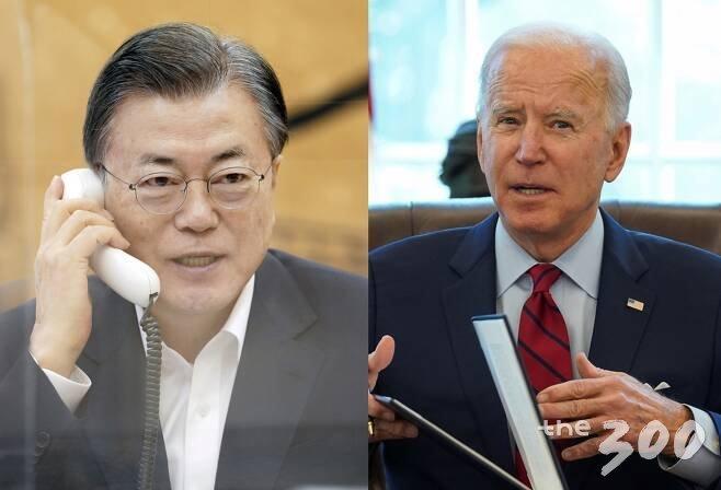 문재인(왼쪽) 대통령과 조 바이든 미국 대통령. /사진=청와대 제공, 로이터