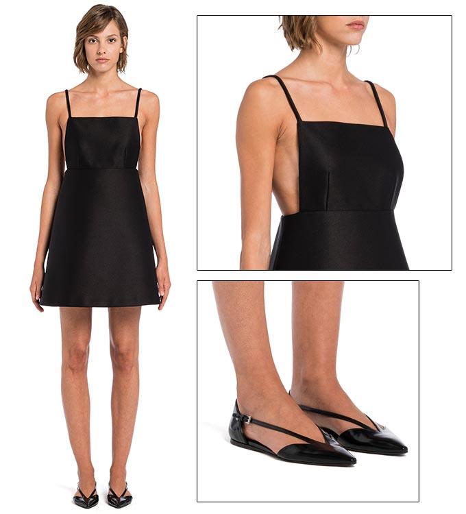 프라다 '컴팩트 라지미르 드레스' 착용 사진/사진=프라다(PRADA)