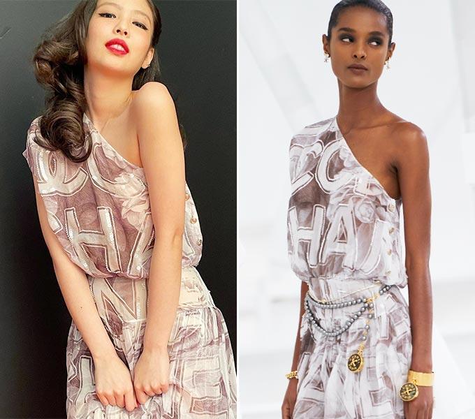 그룹 블랙핑크 제니, 샤넬 2021 S/S 컬렉션/사진=제니 인스타그램, 샤넬(Chanel)