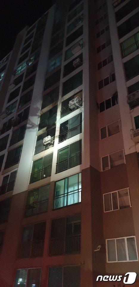 화재현장.(부산경찰청 제공) © 뉴스1