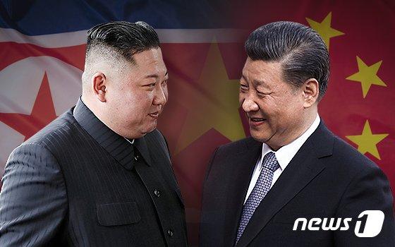 김정은 노동당 총비서와 시진핑 중국 국가주석.© News1 최수아 디자이너