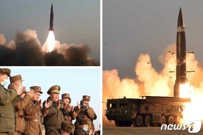 """(평양 노동신문=뉴스1) = 북한은 전날인 25일 발사한 단거리 탄도 미사일 추정 발사체에 대해 26일 '신형전술유도탄'이라고 밝혔다. 노동당 기관지 노동신문은 이날 2면에 발사체의 사진을 공개했다. 신문은 이 발사체가 """"탄두 중량이 2.5t으로 개량된 무기체계""""라며 """"동해상 600km 수역에 설정된 목표를 정확히 타격했다""""라고 주장했다. 김정은 당 총비서는 참관하지 않았으며 리병철 당 중앙군사위 부위원장 겸 당 비서가 이번 시험 발사를 지도했다고 전했다. [국내에서만 사용가능. 재배포 금지. DB 금지. For Use Only in the Republic of Korea. Redistribution Prohibited] rodongphoto@news1.kr"""