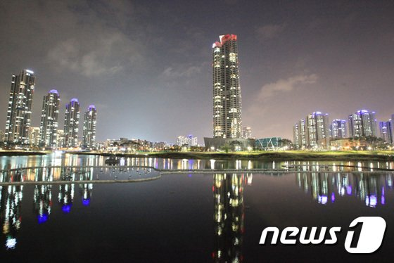 청라국제도시 야경.(사진=인천경제청)© News1