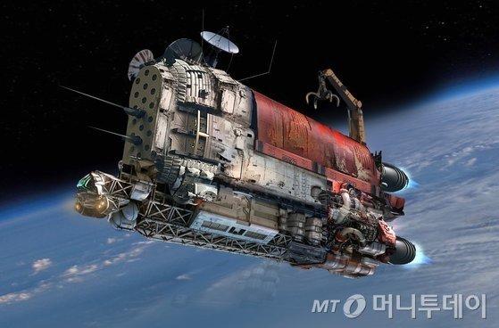 SF영화 '승리호'에서 등장한 우주쓰레기 청소선 승리호/사진=넷플릭스