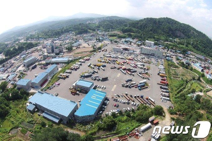 수소충전소가 설치되는 울산 상개동 화물차휴게소 전경 © News1