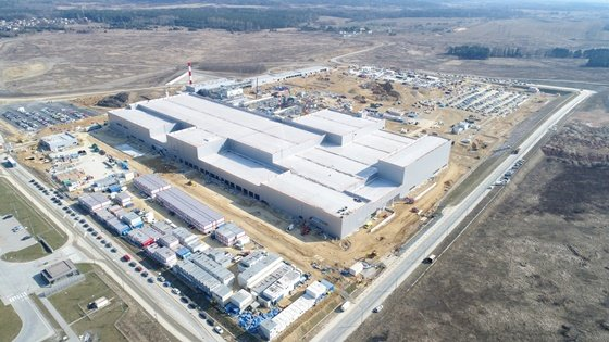 SK아이이테크놀로지가 폴란드에서 건설중인 리튬이온 배터리 분리막(LiBS; Lithium ion Battery Separator) 공장/사진제공=SK이노베이션