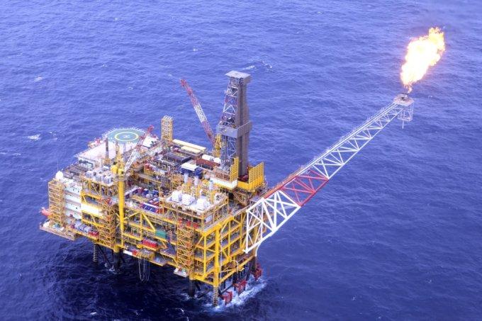 한국조선해양이 2013년 완공한 미얀마 쉐 가스생산플랫폼/사진제공=현대중공업그룹
