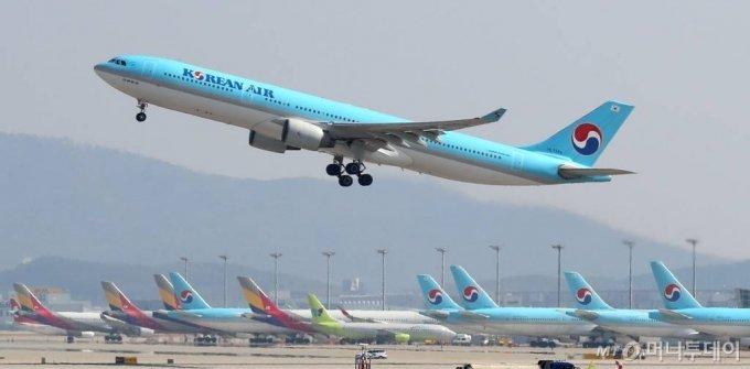 대한항공, 아시아나항공 인수(자료사진) /사진=인천=이기범 기자 leekb@