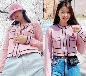 제니 vs 이시영, '500만원대' 핑크 카디건…같은 옷 다른 느낌?