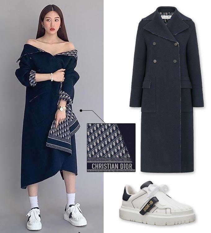 배우 문가영, 문가영이 입은 코트와 스니커즈./사진=문가영 인스타그램, 디올(Dior)
