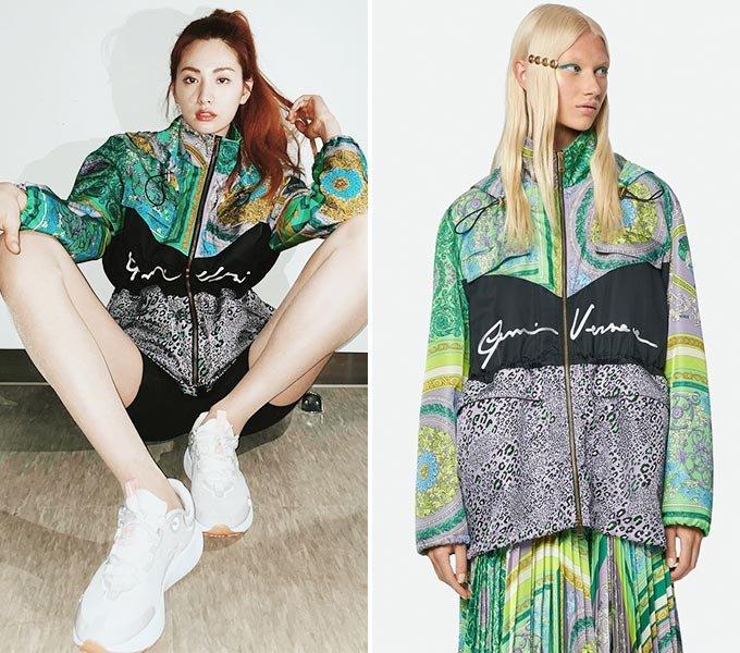 가수 겸 배우 나나/사진=나나 인스타그램, 베르사체(Versace)
