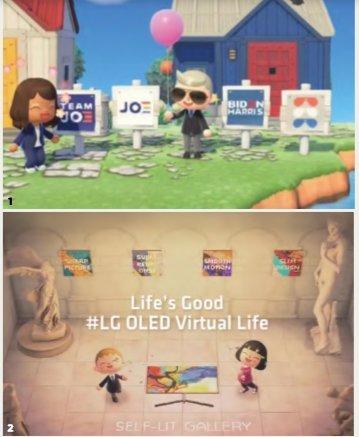 ▲1 닌텐도 게임 동물의 숲 속 조 바이든의 선거캠프 2 LG전자 OLED TV+동물의 숲 이벤트