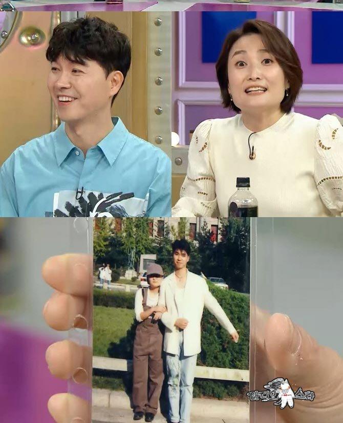 방송인 박수홍, 박경림의 모습(위). 박경림이 박수홍과 함께 찍은 사진(아래)/사진제공=MBC