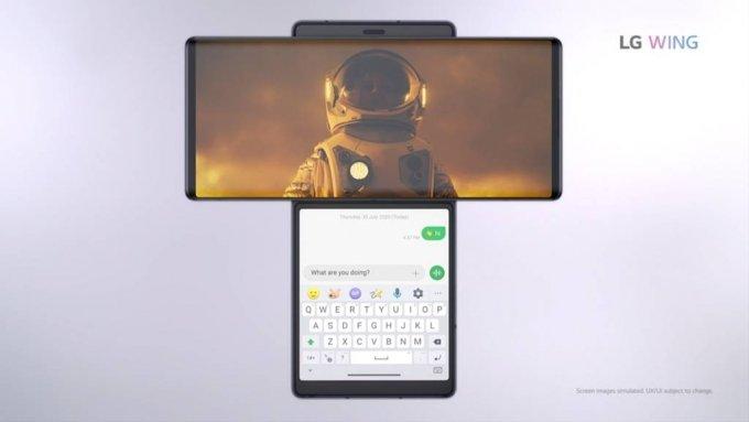 LG전자 전략 스마트폰 LG 윙