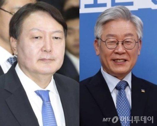 윤석열 전 검찰총장(왼쪽)과 이재명 경기지사./사진=머니투데이DB