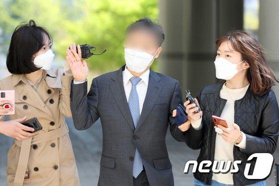 항소심 공판에 출석 중인 윤규근 총경./ 사진=뉴스1