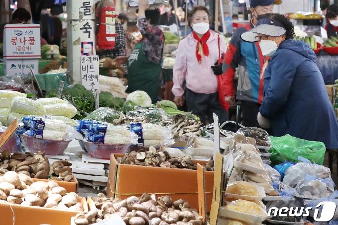 [사진] 전년 대비 18.8% 상승한 채소류 가격