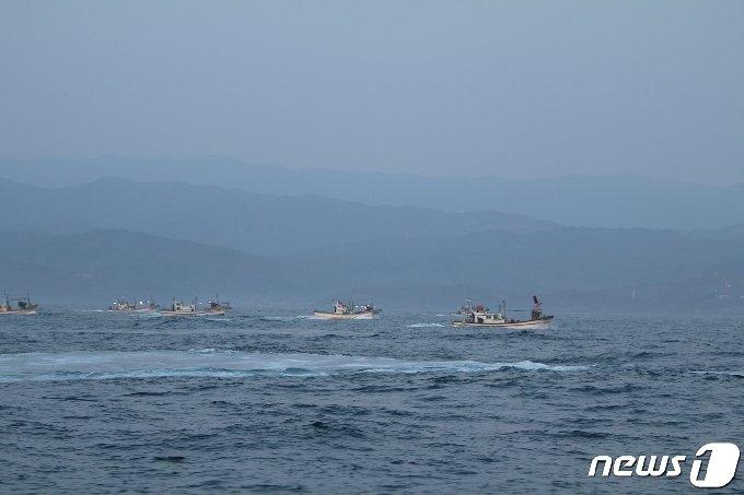 동해안 최북단 강원 고성 저도어장이 9일 개방돼 어선들이 조업에 나서고 있다.(속초해양경찰서 제공) 2021.4.11 /뉴스1
