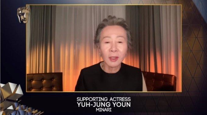 배우 윤여정 /사진=유튜브 채널 'BAFTA' 캡처