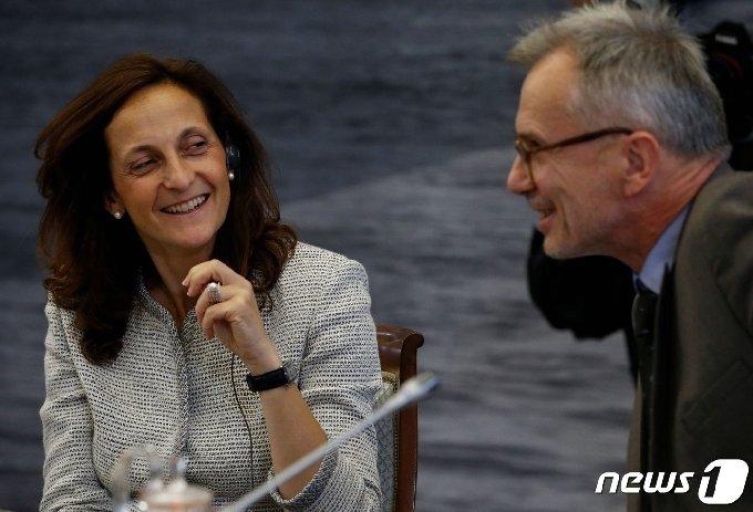 로이터통신은 새 편집국장으로 알레산드라 갈로니(왼쪽)를 입명할 예정이다. © 로이터=뉴스1 © News1 원태성 기자
