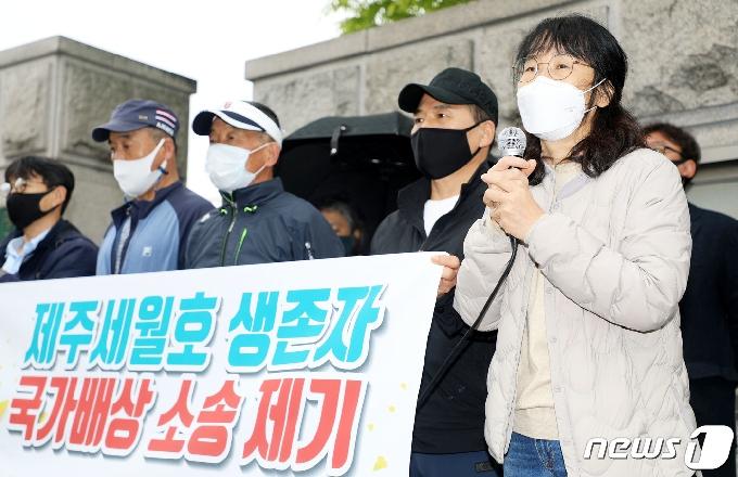 [사진] 국가배상청구 나선 제주 세월호 생존자들