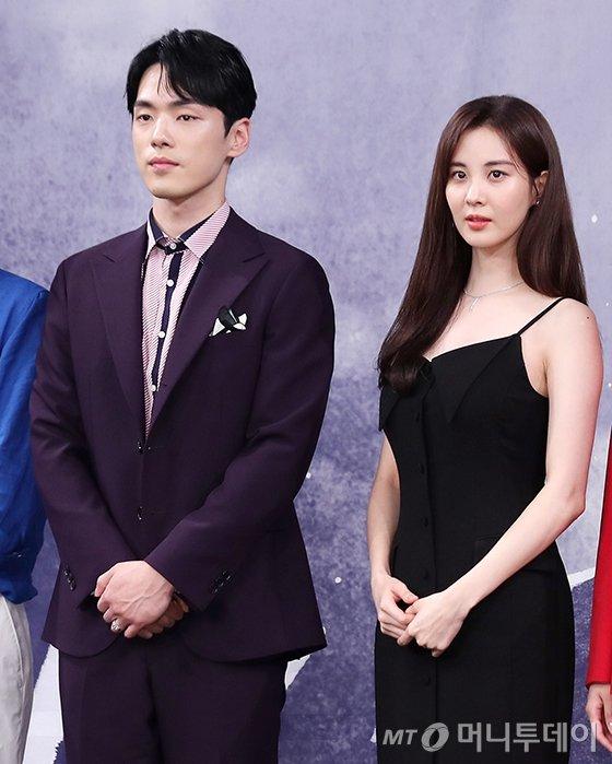 드라마 '시간' 제작발표회 배우 김정현, 서현/사진=머니투데이 DB