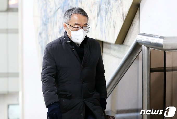 사법행정권 남용 의혹 사건으로 재판을 받고 있는 임종헌 전 법원행정처 차장2020.12.15/뉴스1 © News1 박지혜 기자