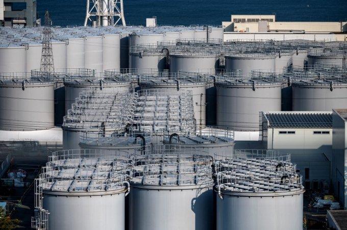 일본 후쿠시마 원전의 오염수 저장 탱크/사진=AFP