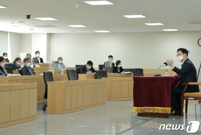 [사진] 강연하는 박범계 법무부 장관