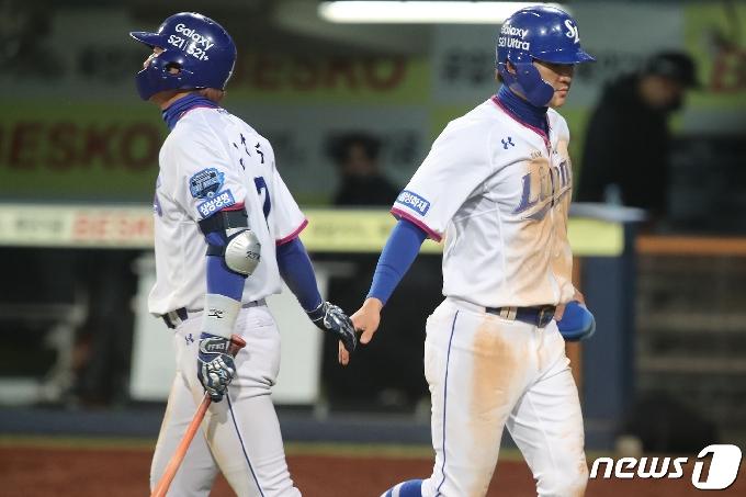 [사진] 박해민 '좋아'