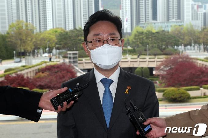 [사진] 박범계 장관 '차기 검찰총장은 신중하게'