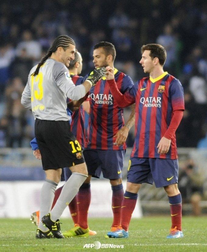 바르셀로나 시절 마누엘 핀토(왼쪽)와 리오넬 메시(오른쪽). /AFPBBNews=뉴스1