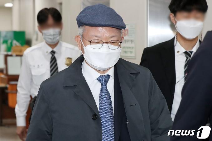 [사진] 양승태 전 대법원장 '법정으로'