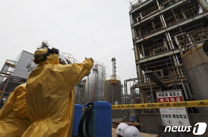 [사진] 효성첨단소재 울산공장서 황산 3000리터 유출