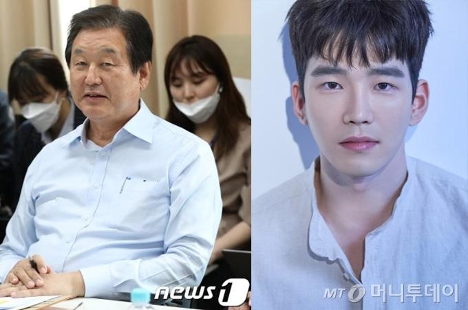 김무성 전 국회의원, 아들 배우 고윤 /사진=뉴스1, 얼리버드엔터테인먼트