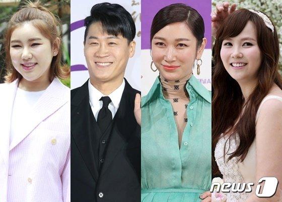 왼쪽부터 송가인 진선규 변정수 김지우 © 뉴스1 DB