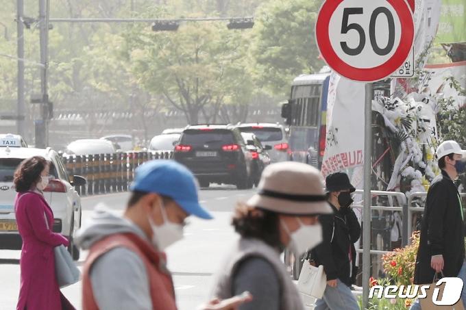[사진] 전국 도시지역 일반도로 속도 50km로 제한