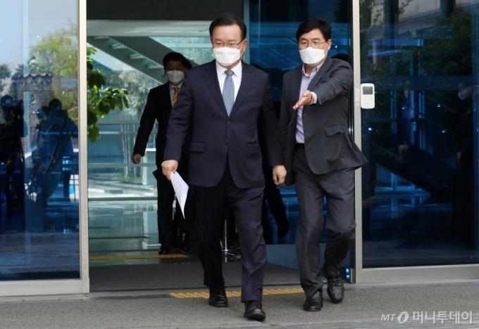 [사진]총리 후보자 지명된 김부겸