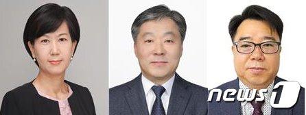 한국공항공사가 전략기획·운영·건설기술본부장 등 3명의 상임이사를 내정했다. (사진 왼쪽부터 전략기획본부장 이미애, 운영본부장 김수봉, 건설시설본부장 이종호) © 뉴스1
