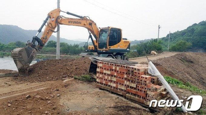 괴산군 감물면 안민지구 사업현장.(괴산군 제공)© 뉴스1