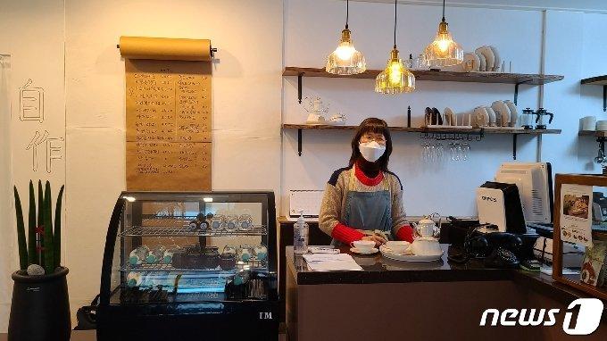 카페비꽃 사장 최선희씨/© 뉴스1