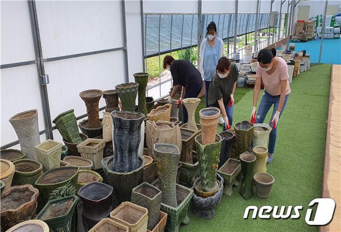 고양국제꽃박람회, 버리는 화분 모아 반려식물로 기부
