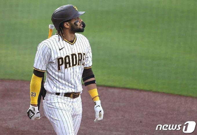 샌디에이고 파드리스는 이틀 연속 LA 다저스에 졌다. © AFP=뉴스1